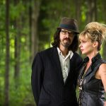 Karin Berquist and Linford Detweiler of Over The Rhine in a forest